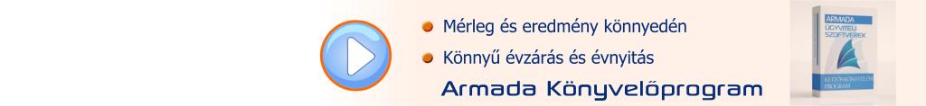 Mérleg és eredmény kimutatás gyorsan - Armada könyvelőprogrammal